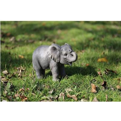 "5"" Polyresin Baby Elephant Statue Gray - Hi-Line Gift"