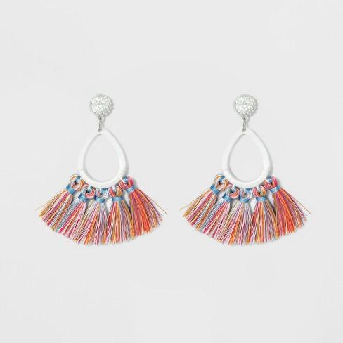 5c49e02d58871 SUGARFIX By BaubleBar Tassel Fringe Hoop Earrings : Target