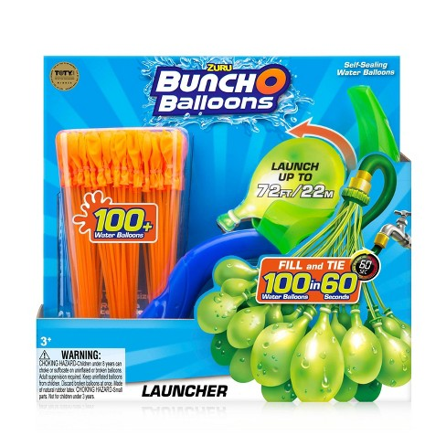 Zuru Bunch O Balloons Launcher with 100 Rapid-Filling Self-Sealing Water Balloons - image 1 of 11