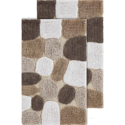 2pc Pebbles Bath Rug Set Brown - Chesapeake Merchandising