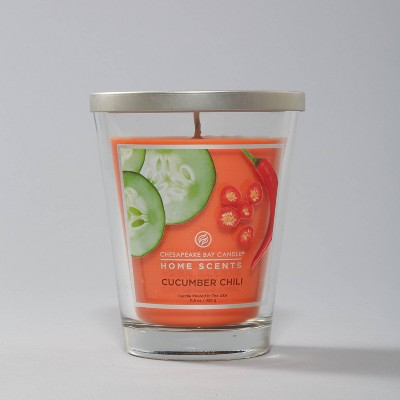 11.5oz Glass Jar Cucumber Chili Candle - Home Scents by Chesapeake Bay Candle