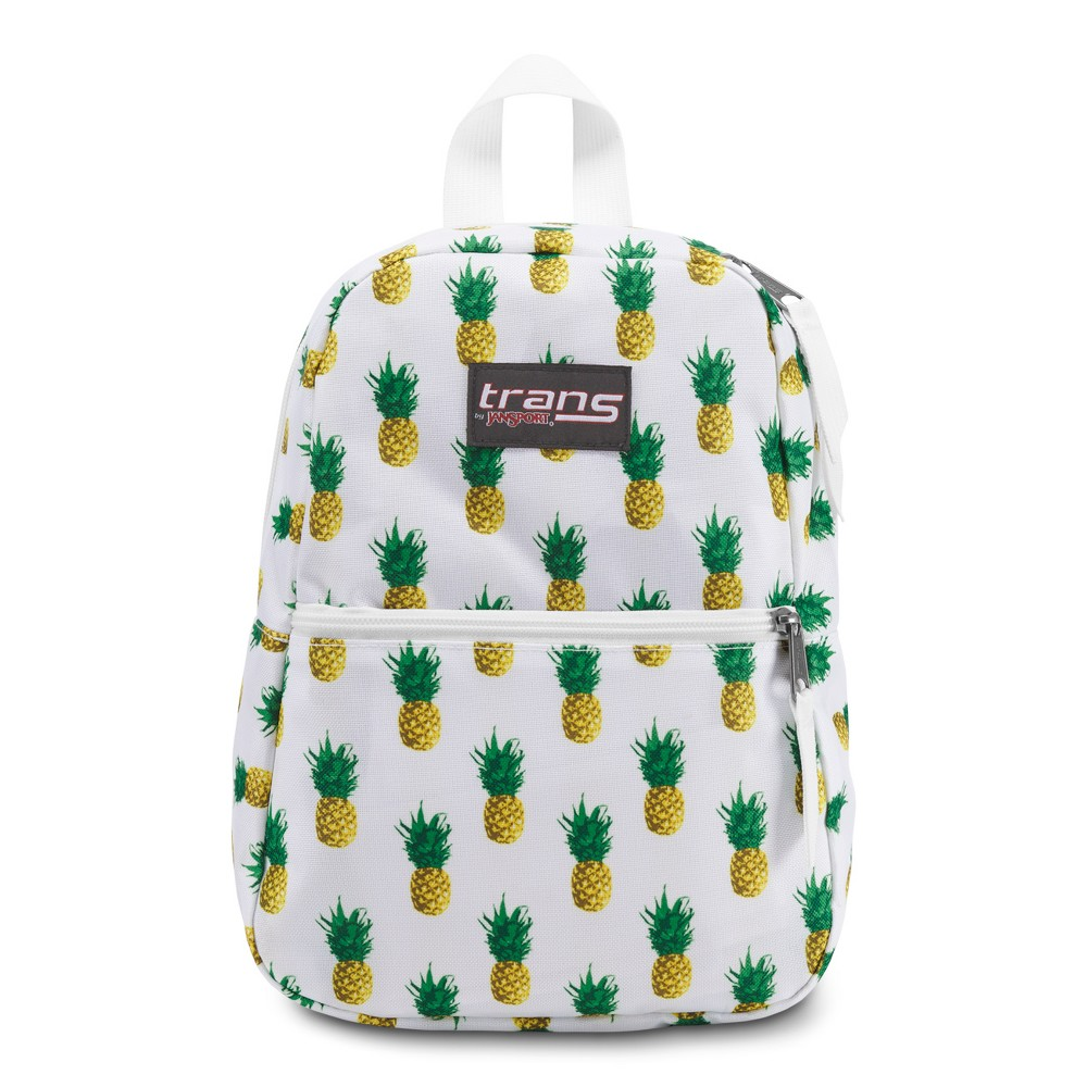Trans by JanSport 12.5 Meadow Tropic Gold Pineapple Print Backpack - White