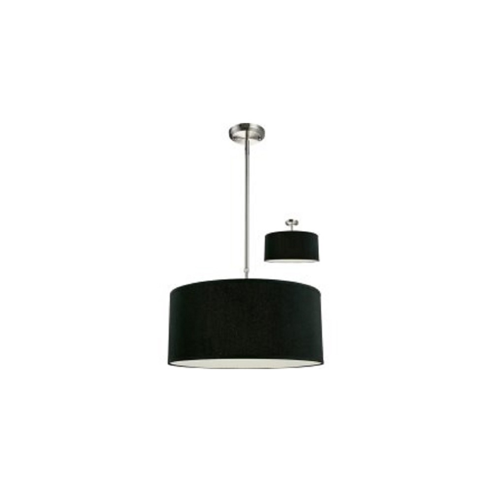 Pendant Ceiling Lights with Black Glass (Set of 3) - Z-Lite