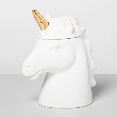 67.6oz Stoneware Unicorn Cookie Jar White - Opalhouse™