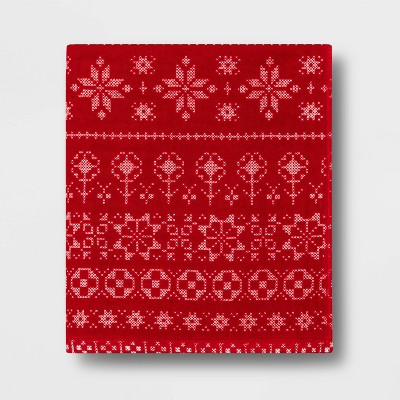 Ornamental Hand Towel Red - Threshold™