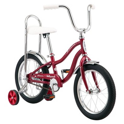 "Schwinn Hollywood 16"" Kids' Hybrid Bike - Red"