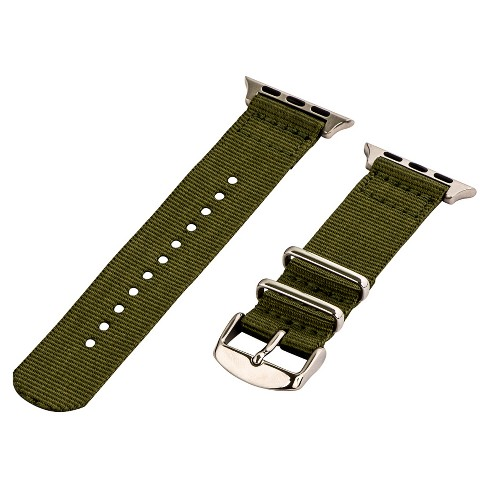 Clockwork Synergy Classic Nato 2 Apple Watch Band 42mm with Steel Adapter - Army Green - image 1 of 1