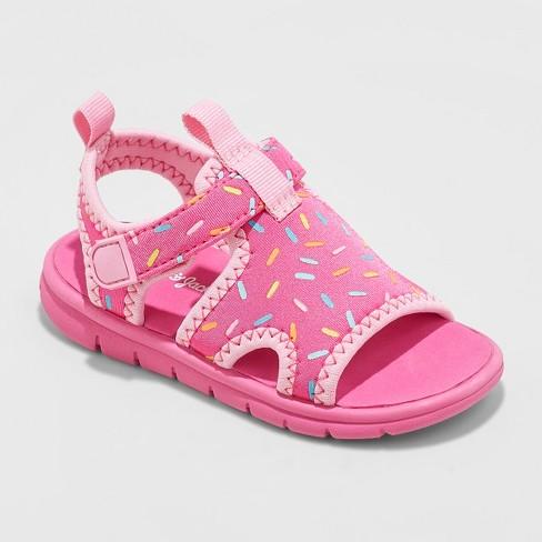 Toddler Girls' Florida Sport Water Shoes - Cat & Jack™ Fuchsia - image 1 of 3