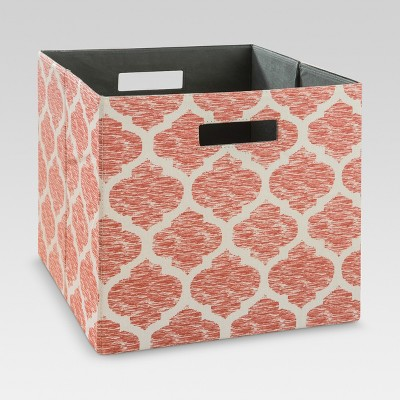Fabric Cube Storage Bin 13  - Coral Pattern - Threshold™