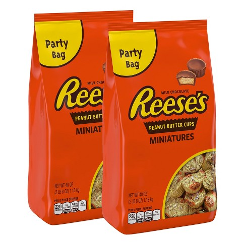 Reese's Miniature Peanut Butter Cups Party Bags - 40oz / 2ct - image 1 of 2