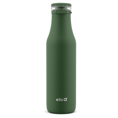 Ello Roscoe 18oz Stainless Steel Water Bottle with Stickers Green