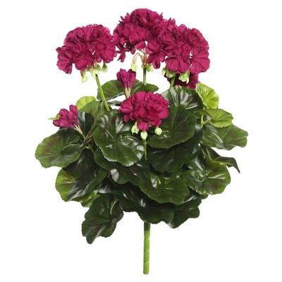 "Artificial Geranium Bush (15.25"") Purple - Vickerman"
