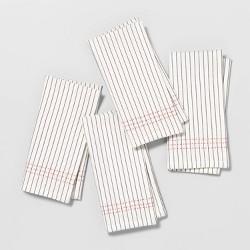 4pk Cloth Napkin Black / Orange - Hearth & Hand™ with Magnolia