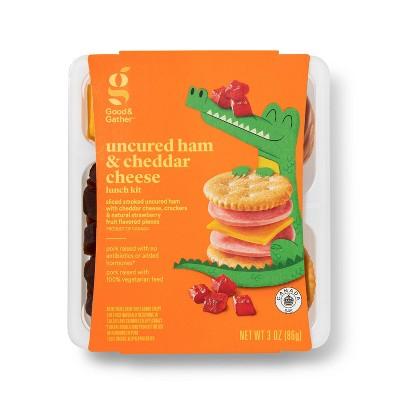 Uncured Ham & Cheddar Cheese Lunch Kit - 3oz - Good & Gather™