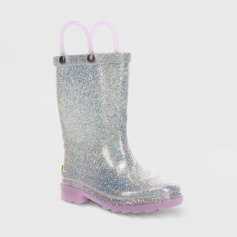 Toddler Girls' Western Chief Ozara Light-Up Rain Boots - Lavender - image 1 of 3