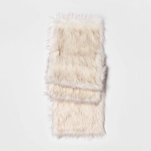 """72""""X14"""" Faux Fur Table Runner White - Threshold™ - image 1 of 3"""