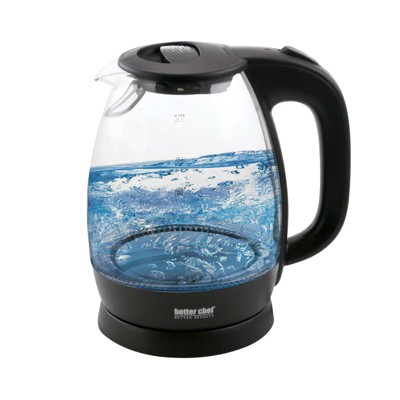 Better Chef 1.7L Cordless Electric Glass Tea Kettle