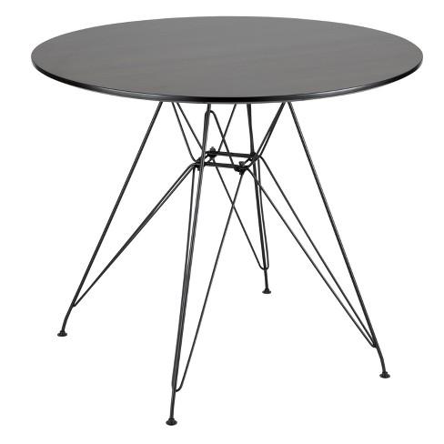 Avery Mid Century Modern Round Dining Table Black Walnut Lumisource Target
