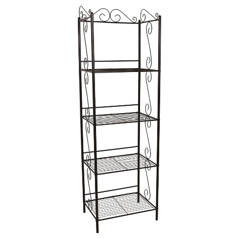"""70"""" Bookcase with tagère Copper Metal - EveryRoom - image 1 of 2"""