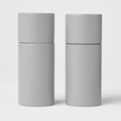 2pc Acacia Round Salt and Pepper Grinder Set Beige - Threshold™