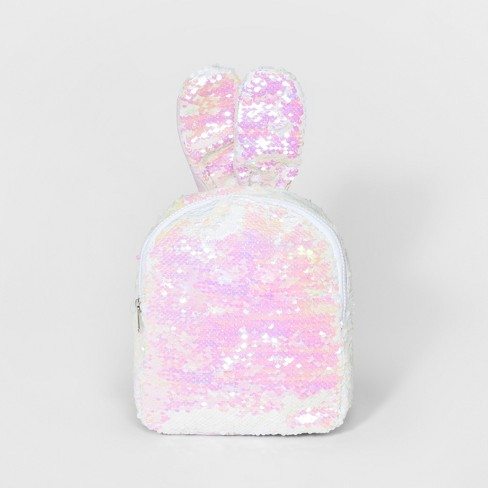 Girls' Sequin bunny Backpack - Cat & Jack™ White - image 1 of 3