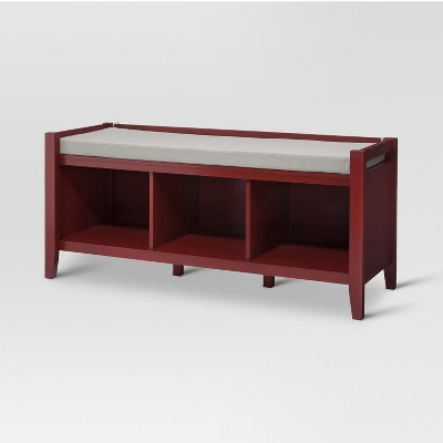 Open Storage Bench Wood   Threshold™