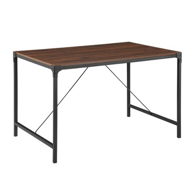 "48"" Industrial Wood Dining Table - Saracina Home"