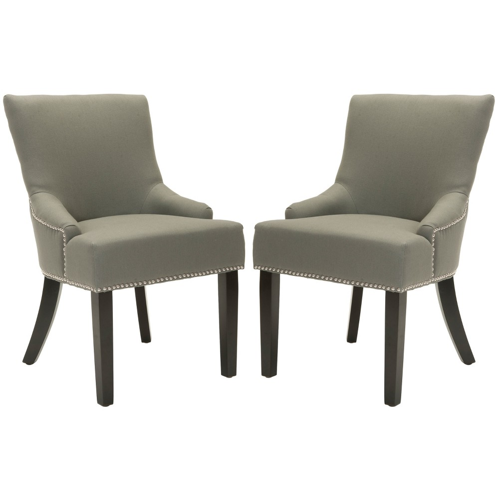 Lotus Side Chair Wood/Gray (Set of 2) - Safavieh