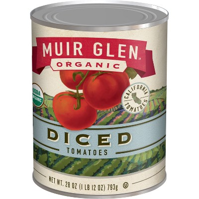 Canned Tomatoes & Paste: Muir Glen Diced