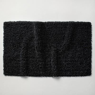 """24""""x40"""" Mélange Looped Bath Rug Black - Casaluna™"""