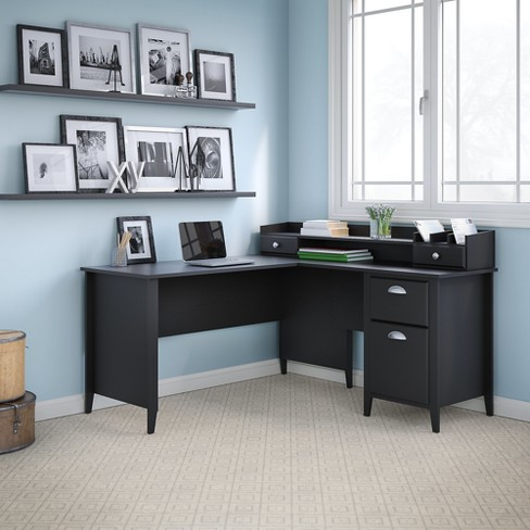 60w Kathy Ireland Office By Connecticut L Desk And Organizer Black