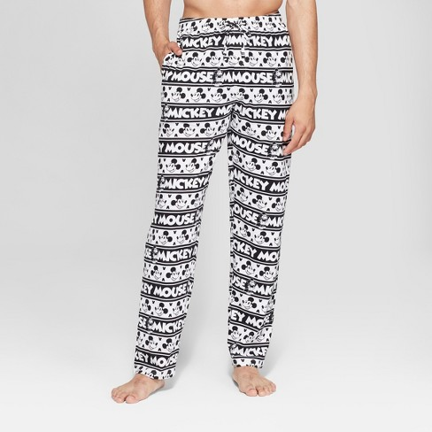b4f975e5c7 Men s Mickey Mouse Knit Pajama Pants - White   Target