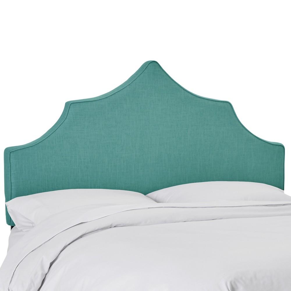 Upholstered Notched Headboard Full Linen Laguna - Skyline Furniture
