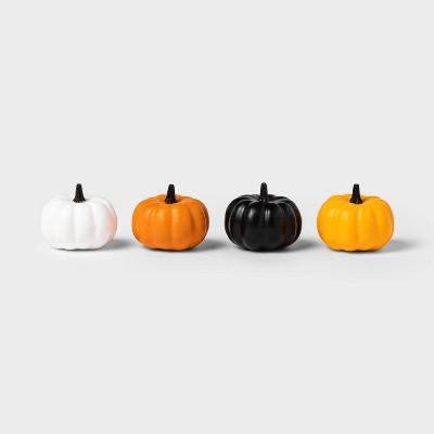 4pk Mini Painted Solid Halloween Decorative Pumpkins - Hyde & EEK! Boutique™