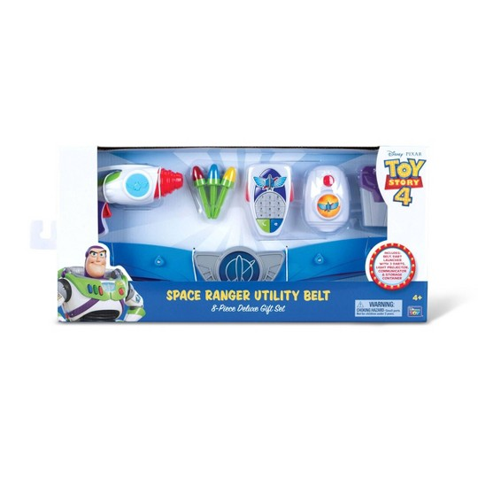 Disney Pixar Buzz Lightyear Toy Story 4 Space Ranger Utility Belt 8pc Deluxe Set image number null