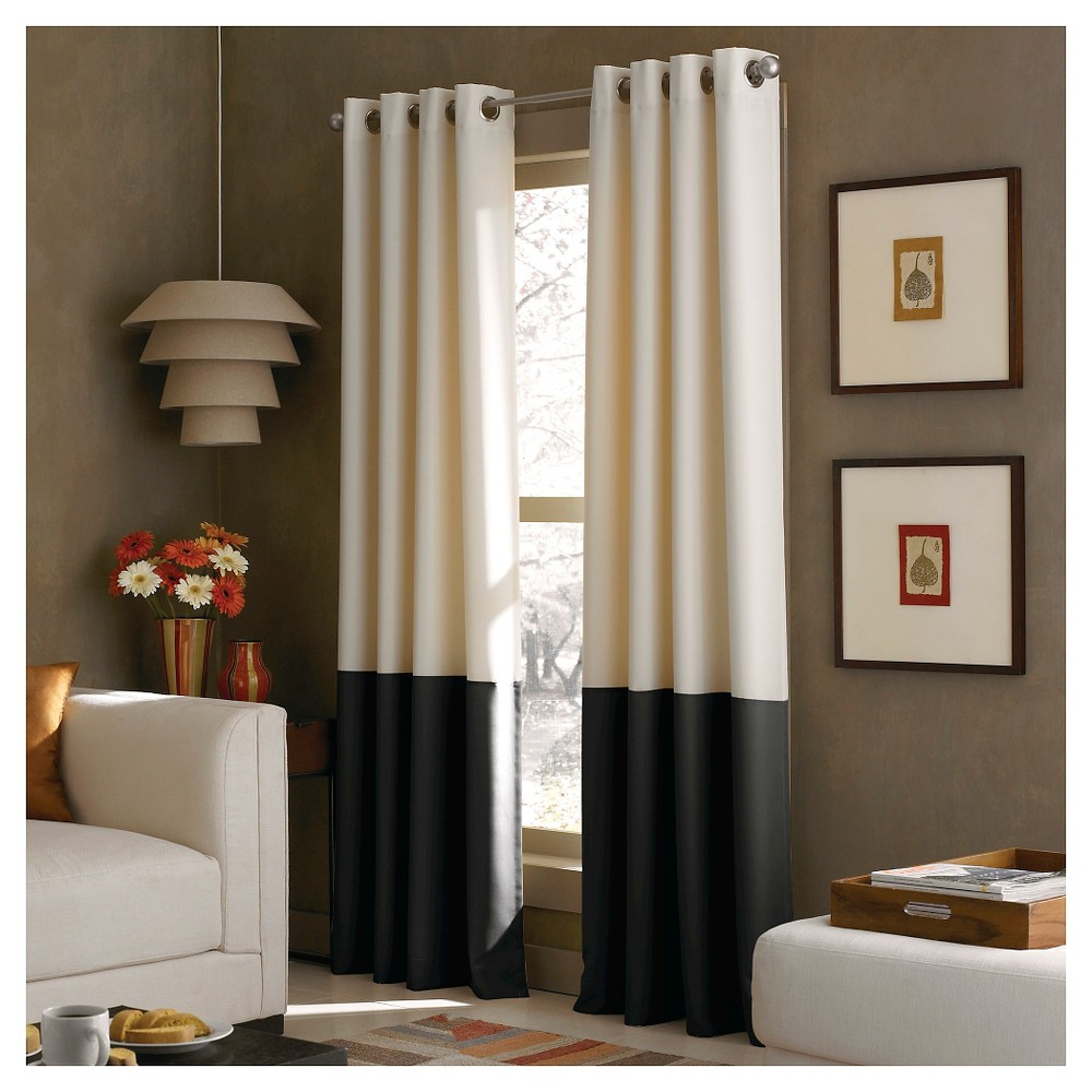 """Image of """"108""""""""x52"""""""" Kendall Lined Curtain Panel Cream - Curtainworks"""""""