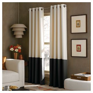 "Curtainworks Kendall Lined Curtain Panel - Cream (63"")"