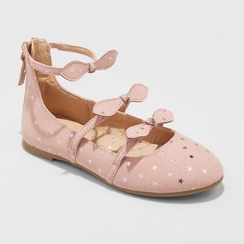 Girls' Jaydeen Ballet Flats - Cat & Jack™ Pink 2 - image 1 of 4