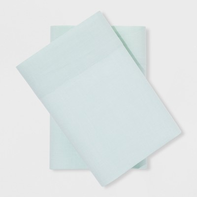 Vintage Washed Chambray Pillowcases (Standard)Pond Green - Threshold™