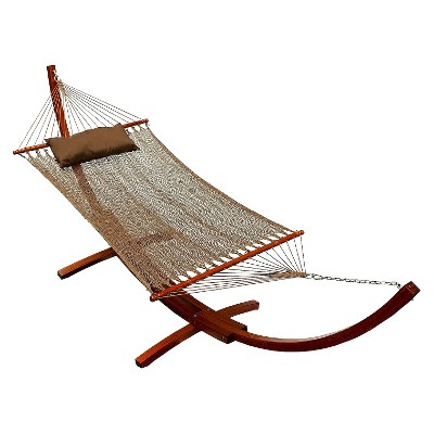 Patio 12' Hammock & Stand Set - Tan/Brown