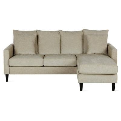 Clifton Reversible Sectional With Pillows   Dorel Living