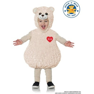 Underwraps Costumes Build-A-Bear Happy Hugs Teddy Belly Baby Toddler Costume