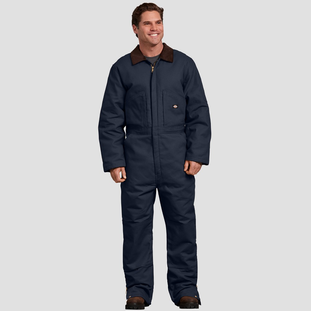 Dickies Men's Ankle Straight Fit Overalls - Deep Navy L