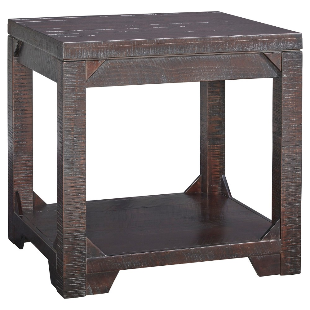 Rogness Rustic Brown - Rectangular End Table - Signature Design by Ashley, Bison