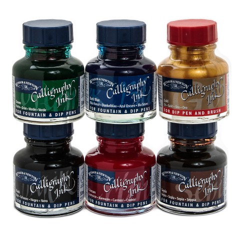 Calligraphy Ink Intro Set 6ct - Winsor and Newton - image 1 of 1