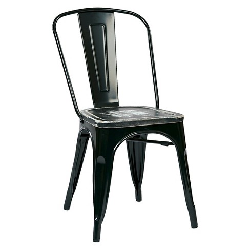 Osp Designs Bristow Distressed Wood Seat Chair Metal - image 1 of 5