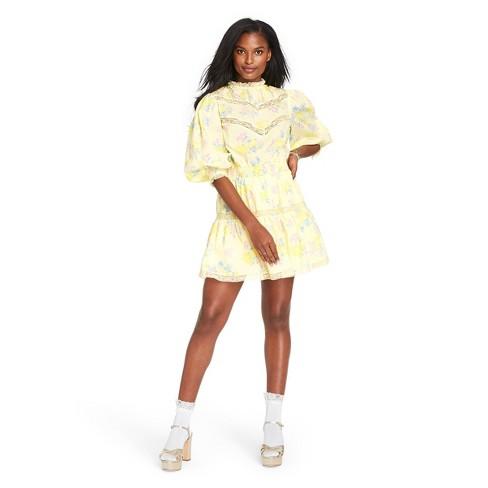 Women's Louise Pintuck Yoke Dress - LoveShackFancy for Target (Regular & Plus) Light Yellow  - image 1 of 4