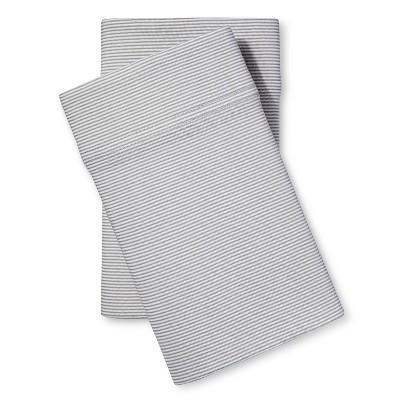 Jersey Pillow Case - Gray Stripe (King)- Room Essentials™