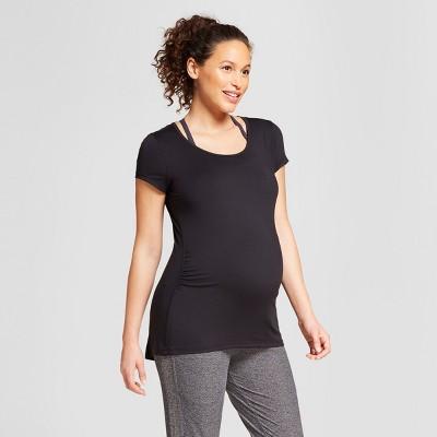Maternity Strappy Back T-Shirt - C9 Champion® Black M