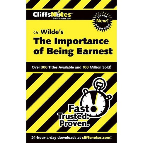 Wilde's the Importance of Being Earnest - (Cliffsnotes Literature Guides) by  Susan Van Kirk (Paperback) - image 1 of 1